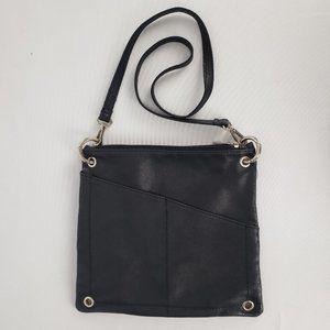 Maris's Black Leather Crossbody Purse
